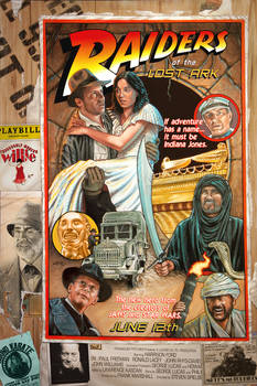 RAIDERS circus style movie poster