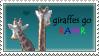 giraffes go RAWR by HisMissDolly