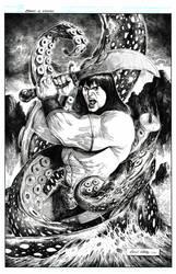 Conan vs Kraken by danielvaladez