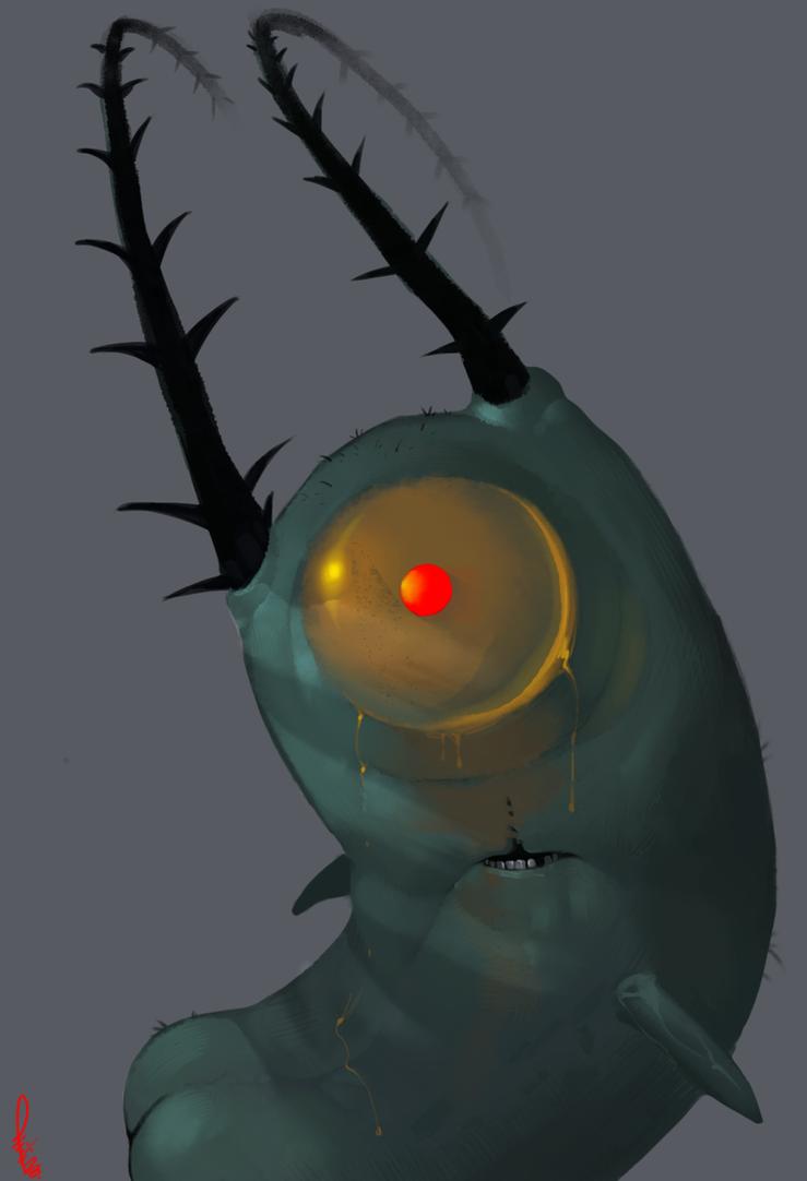 Plankton's butt by Philtomato