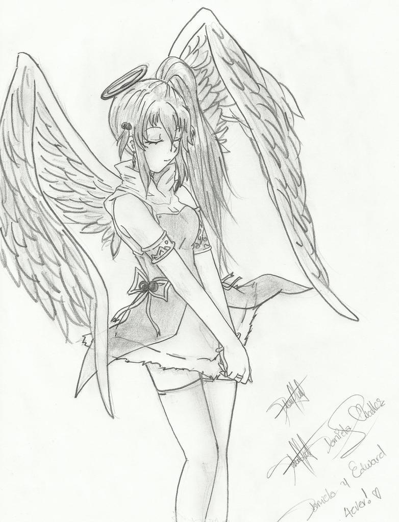 Angel Girl Anime By Daniliov