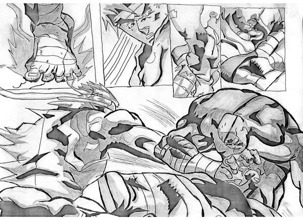 Sagat Vs. Ryu by Ankhu
