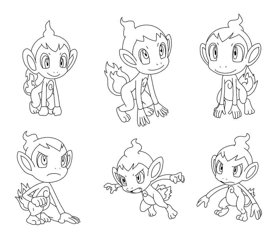 chimchar pokemon coloring pages - photo#27