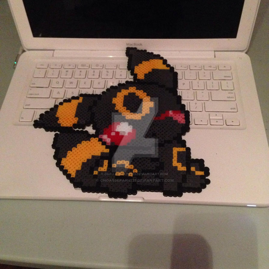 Umbreon perler beads  by ChoasSeraph123