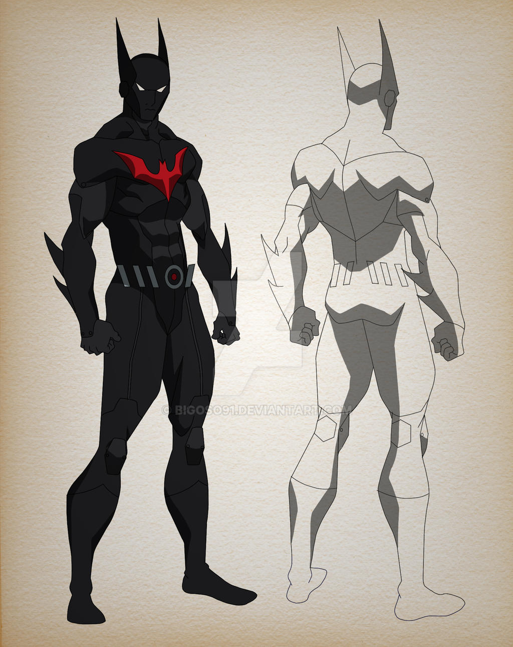 Character Design Deviantart : Batman beyond character design by bigoso on deviantart