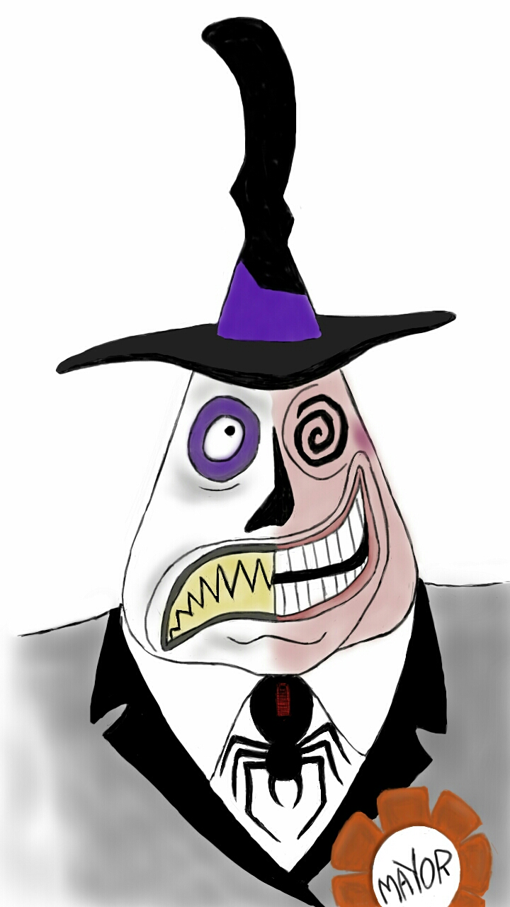 Nightmare Before Christmas Coloring Pages Mayor The Nightmare