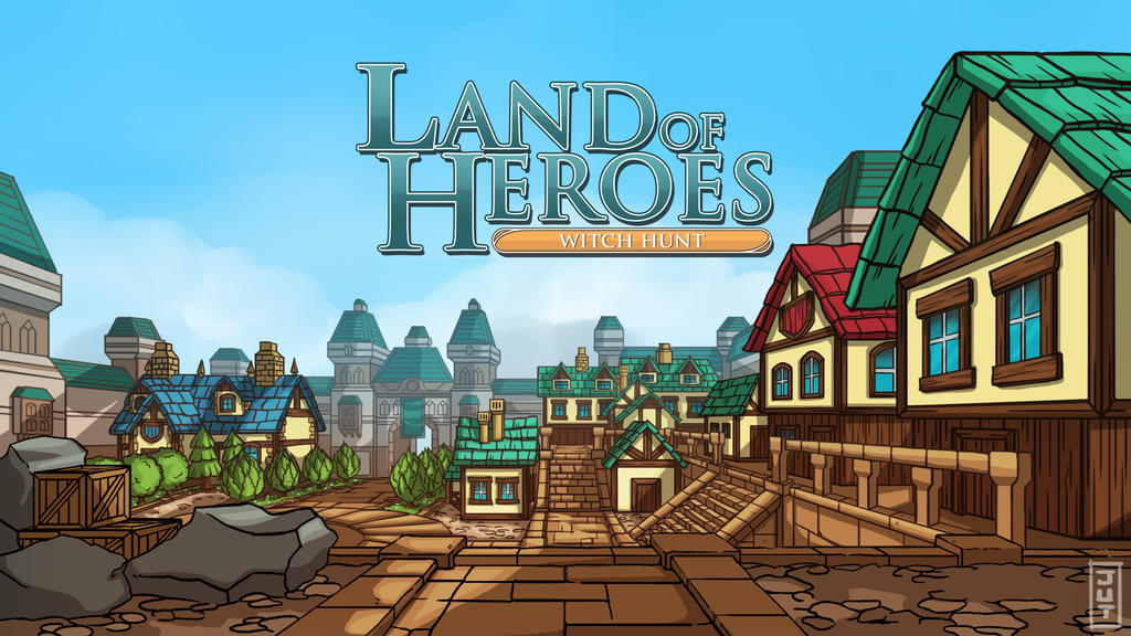 Land of Heroes Title Page by juliastorybored