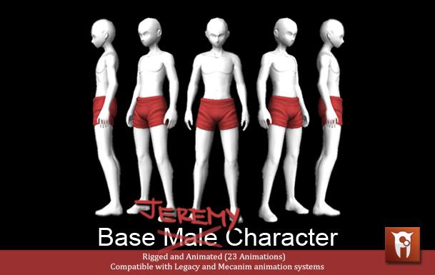 Jeremy (Base Male Character) by juliastorybored