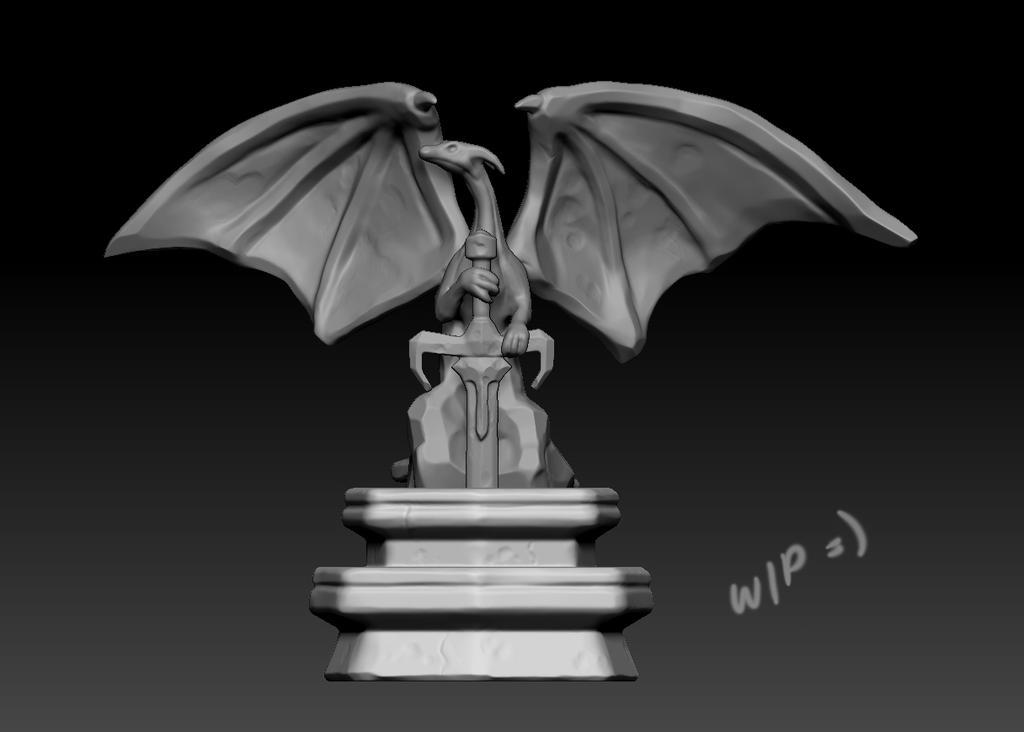 Dragon Statue by juliastorybored