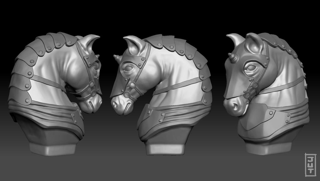 Knight Bust by juliastorybored