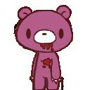 Shimeji wip Gloomy The Naughty Grizzly first frame by Kisshuslovegirl1