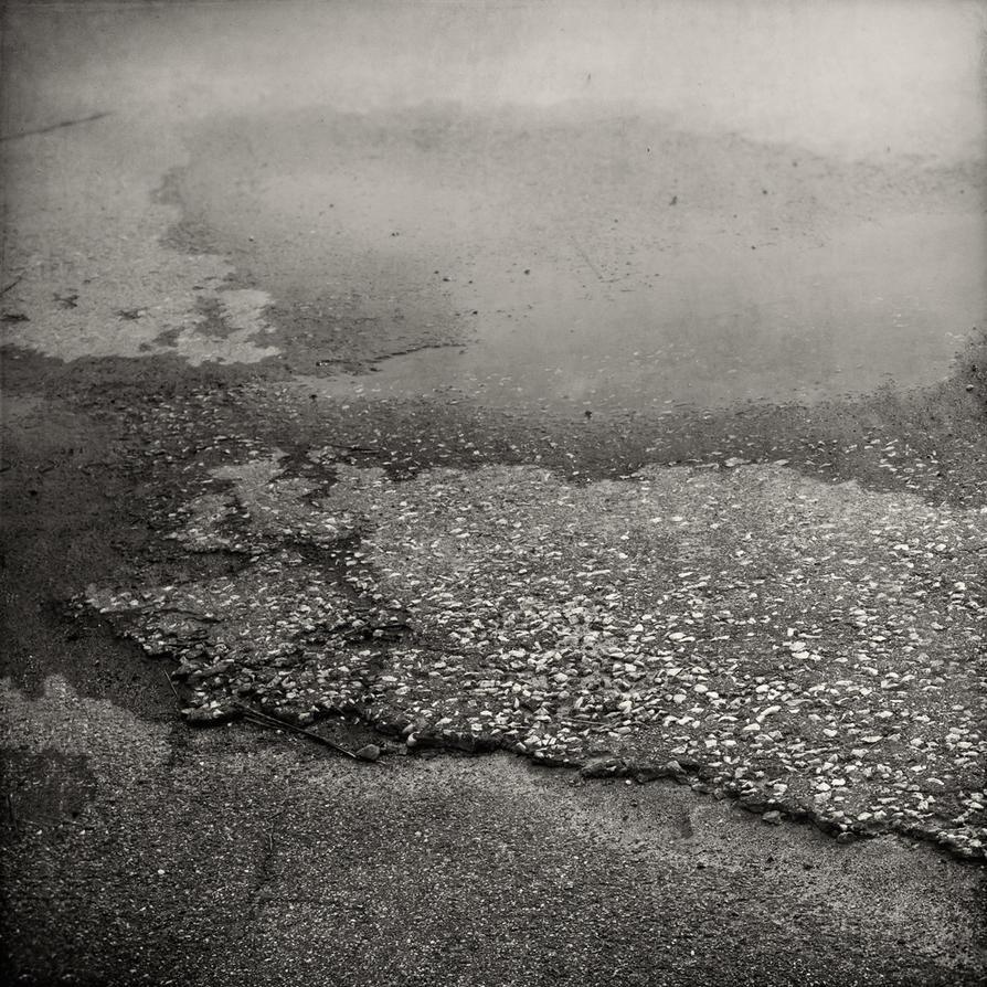 Asphalt landscape by Poromaa