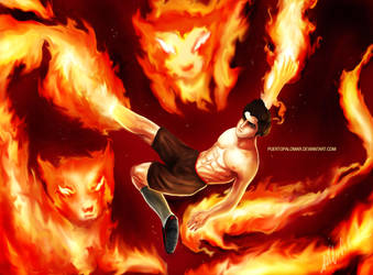 Mako, The Fire Ferret by Puertopalomar