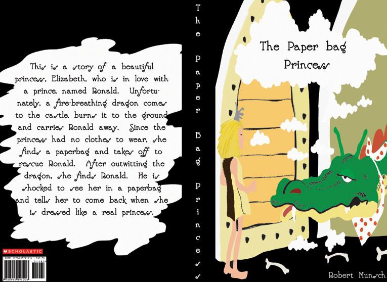 Paper Bag Princess Book Cover ~ Paper bag princess by jdesignx on deviantart