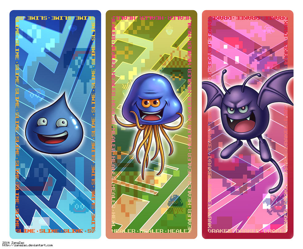 Dragon Quest Bookmark Set by zanazac