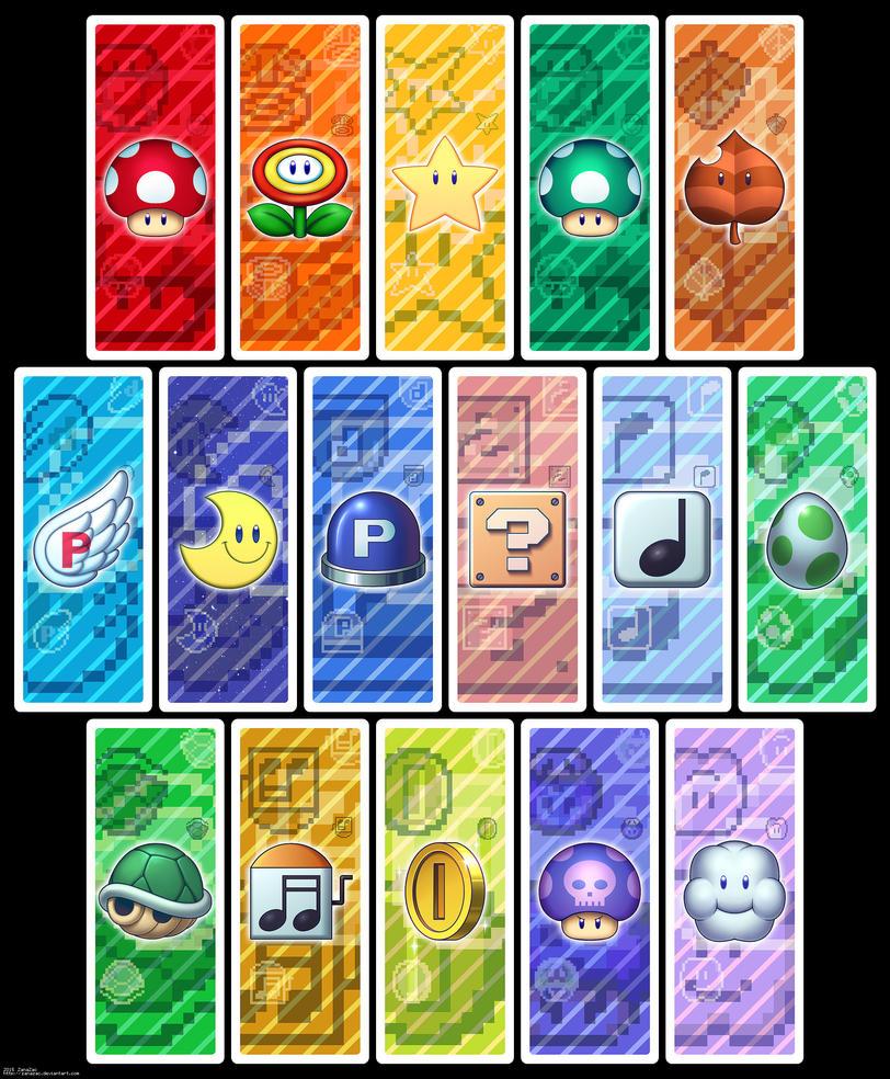 Super Mario Bookmark Set by zanazac