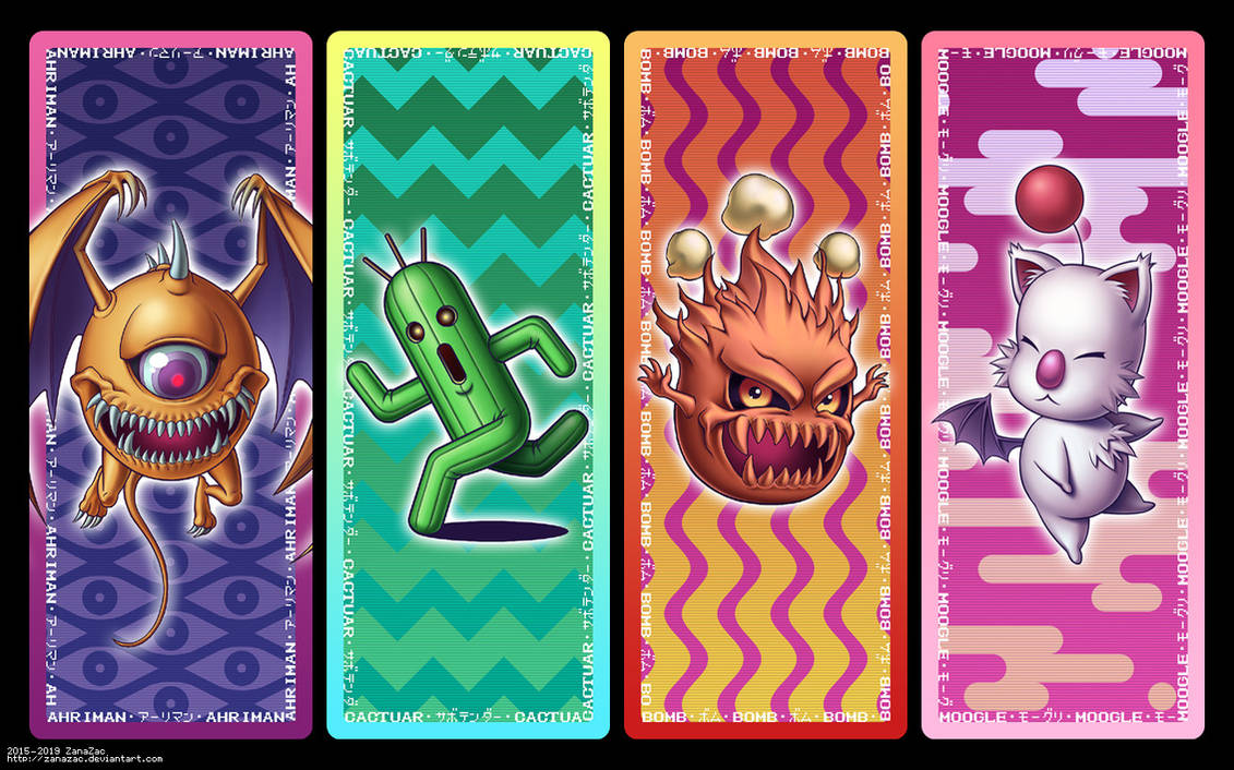 Final Fantasy Bookmark Set by zanazac