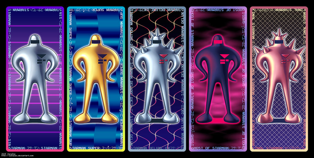 Starman Bookmark Set by zanazac