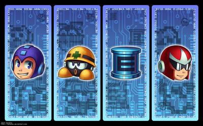 Megaman Bookmark Set by zanazac