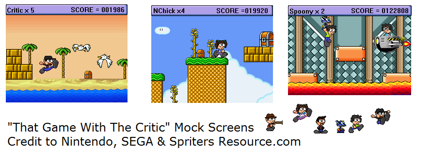 That Game With The Critic Mock Screens by SuperAshBro