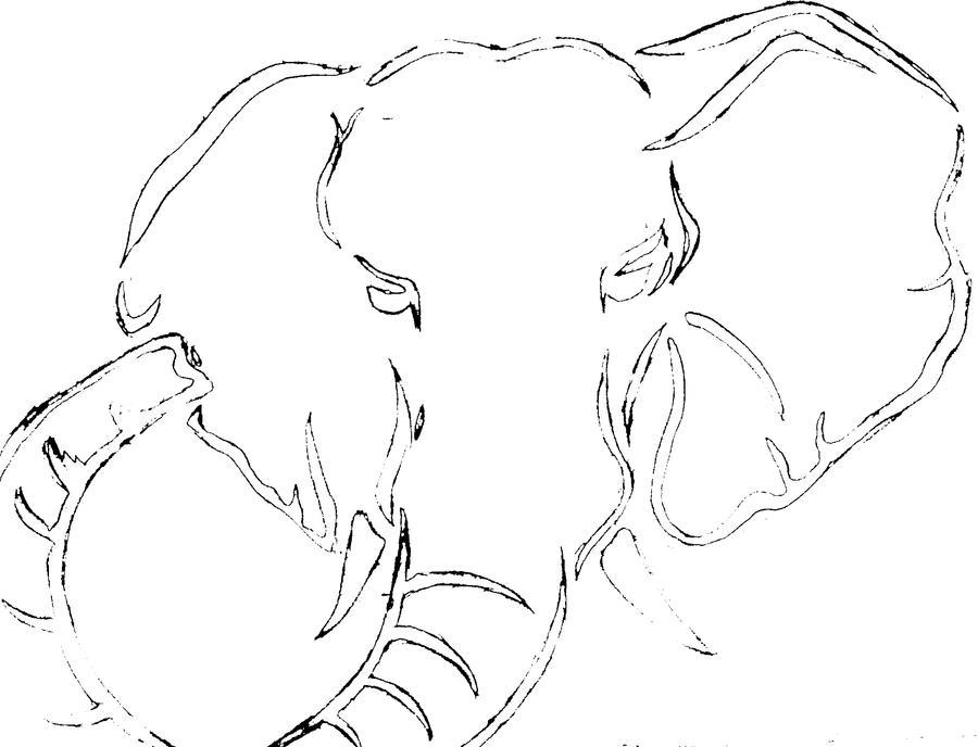 elephant stencil by oneunusualchick on deviantart