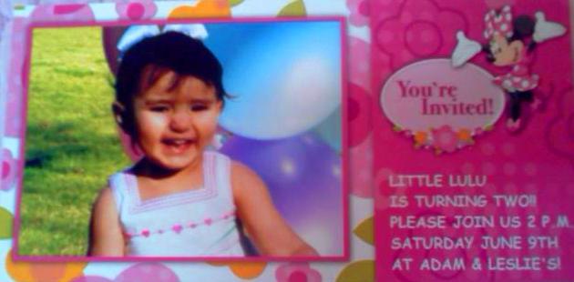 Lailah's Birthday Invite by oneunusualchick