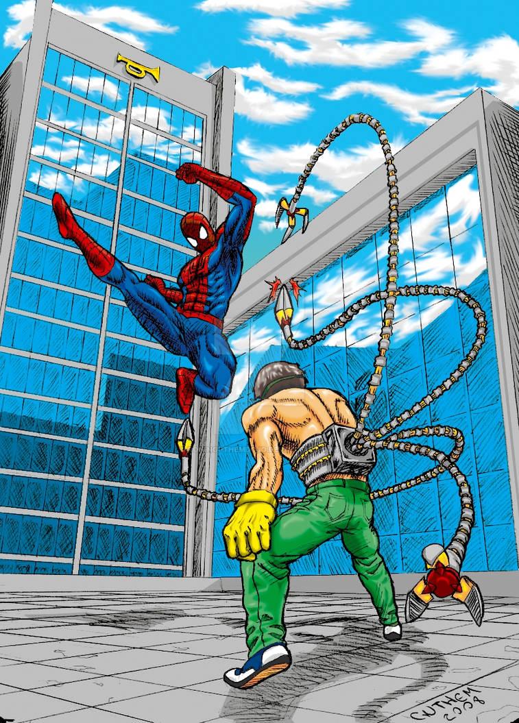 Spider Man vs Octopus