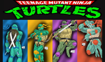 TMNT All Squad facebook cover by RoninGuthemDojo