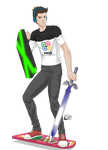 MGS Mongagua Game Show mascot by RoninGuthemDojo