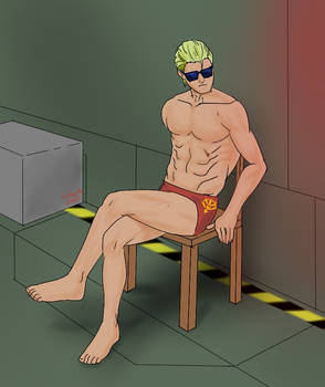 Char in a chair