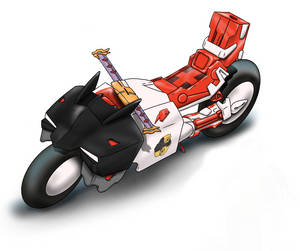 Astray Red Frame bike design by me