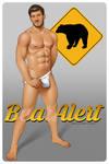 Sexy Male Pop Art - Bear Alert