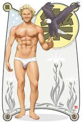 Male Pinup - Heath Ledger by eddiechin
