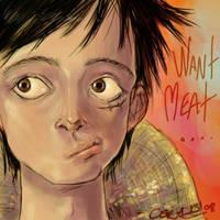 Luffy want Meat by c0rkydawL