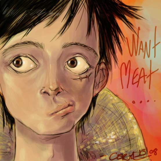 Luffy want Meat by c0rkydawL