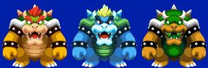 SMB1 Bowser in Paper Jam Sprite Style by Aivaylas