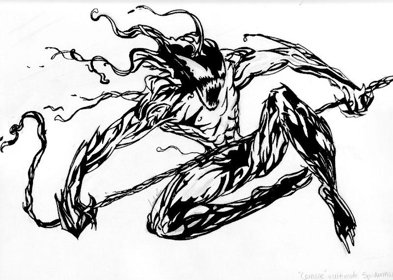 carnage spider man coloring pages - photo#23