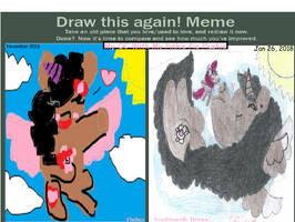 My OC With Pinkie Pie Plushie (Improvement Meme)