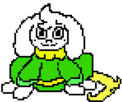 UnderPaws Asriel - colored (tail is usually white)