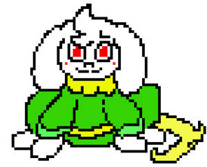 UnderPaws Asriel - colored (eyes r usually black)