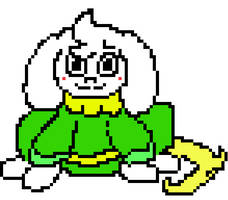 UnderPaws Asriel -colored (cheeks r usually black)