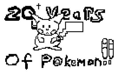 Twenty Years of Pokemon (Pixel Art, BW version) -2