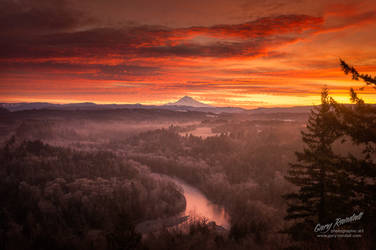 Mount Hood and The Sandy River Valley by garyrandall