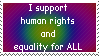 Human rights by Stamp-O-Rama