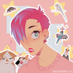me and my pets + Greg by Glamist