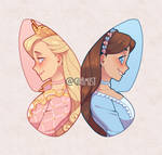 Princess and the Pauper (Etsy sticker)