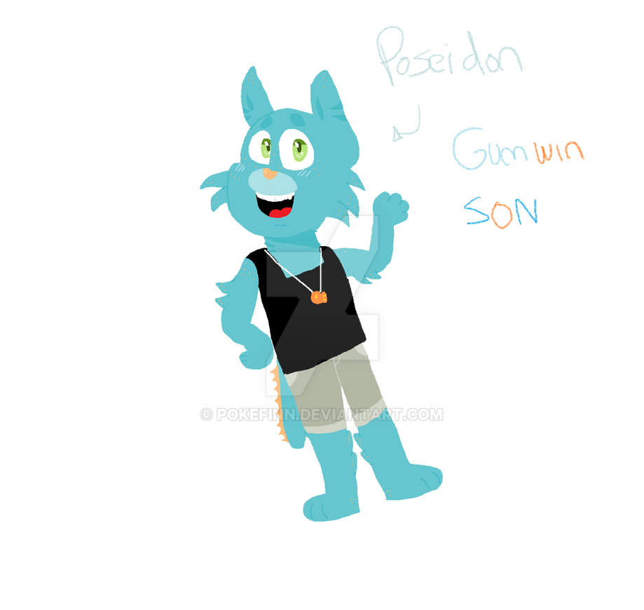 Poseidon Fanchildren Gumwin by pokefinn