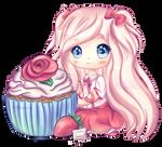 White Chocolate Strawberry Cupcake