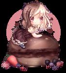 Chocolate Macaron with Berries | +Speedpaint