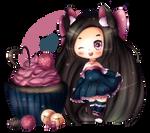 Dark Chocolate Raspberry Cupcake | Speedpaint